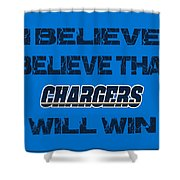 San Diego Chargers I Believe Shower Curtain
