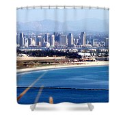 San Diego From Point Loma By Diana Sainz Shower Curtain