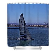 San Diego Harbor Sailing Shower Curtain