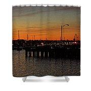 San Diego Harbor Sunset Shower Curtain
