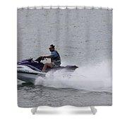 San Diego Jet Skier Shower Curtain