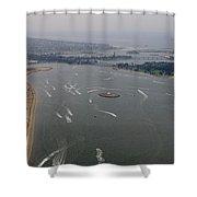 San Diego Mission Bay Aerial 4 Shower Curtain