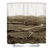 San Diego Mission In Mission Valley California Circa 1909 Shower Curtain