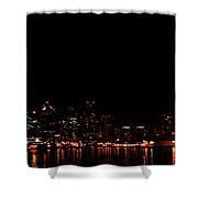 San Diego Night Skyline Shower Curtain