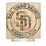 San Diego Padres Logo Art Shower Curtain