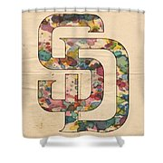 San Diego Padres Logo Vintage Shower Curtain