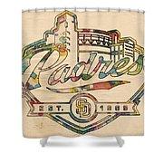 San Diego Padres Memorabilia Shower Curtain