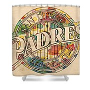 San Diego Padres Poster Art Shower Curtain