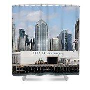 San Diego Port Shower Curtain