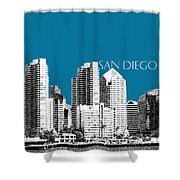San Diego Skyline 1 - Steel Shower Curtain