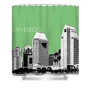 San Diego Skyline 2 - Apple Shower Curtain