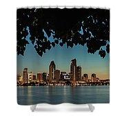 San Diego Sunrise Shower Curtain