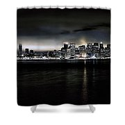 Across The Bay Version A Shower Curtain