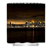 Across The Bay Version B Shower Curtain