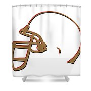 San Francisco 49ers Helmet Shower Curtain