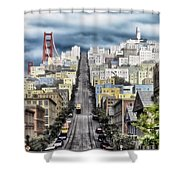 San Francisco Backlot Walt Disney World Shower Curtain