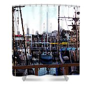 San Francisco Behind The Masts Shower Curtain