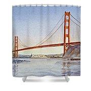 San Francisco California Golden Gate Bridge Shower Curtain