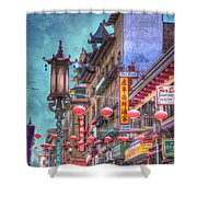 San Francisco Chinatown Shower Curtain