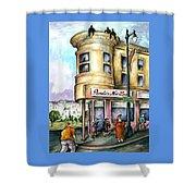 San Francisco North Beach - Watercolor Art Shower Curtain