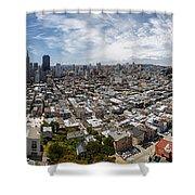 San Francisco Daytime Panoramic Shower Curtain