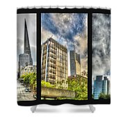 San Francisco Embarcadero Panel Shower Curtain