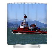 San Francisco Fire Department Fire Boat Shower Curtain