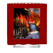 San Francisco Fire Shower Curtain