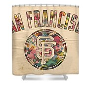 San Francisco Giants Logo Vintage Shower Curtain