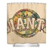 San Francisco Giants Poster Art Shower Curtain