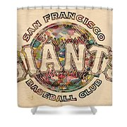 San Francisco Giants Poster Vintage Shower Curtain
