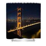 San Francisco Golden Gate Bridge At Blue Hour Shower Curtain
