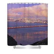 San Francisco Golden Gate Bridge At Dusk Shower Curtain