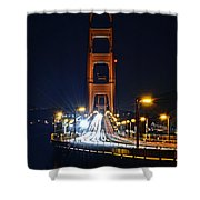 San Francisco - Golden Gate Bridge From North Vista Point Shower Curtain