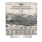 San Francisco Graphic Map 1875 Shower Curtain