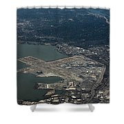San Francisco International Airport Shower Curtain