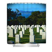 San Francisco National Cemetery In El Presidio Shower Curtain