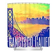 San Francisco Postcard Shower Curtain