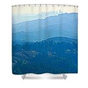 San Francisco Skyline From Mount Tamalpias-california Shower Curtain