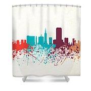 San Francisco Skyline Paint Shower Curtain