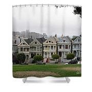 San Francisco - The Painted Ladies I Shower Curtain