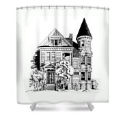 San Francisco Victorian Shower Curtain by Mary Palmer