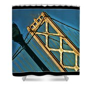 San Francisico Bay Bridge And Light Shower Curtain