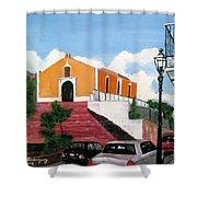 San German Chapel Shower Curtain