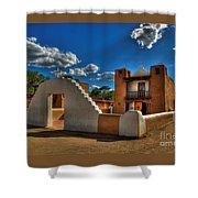 San Geronimo Church Taos Pueblo Shower Curtain