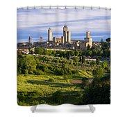 San Gimignano Shower Curtain
