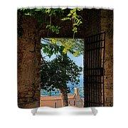 San Gimignano Door Shower Curtain