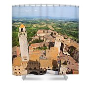 San Gimignano From The Top Of A Tower Shower Curtain