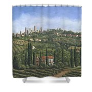 San Gimignano Tuscany Shower Curtain