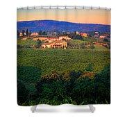 San Gimignano Vineyards Shower Curtain